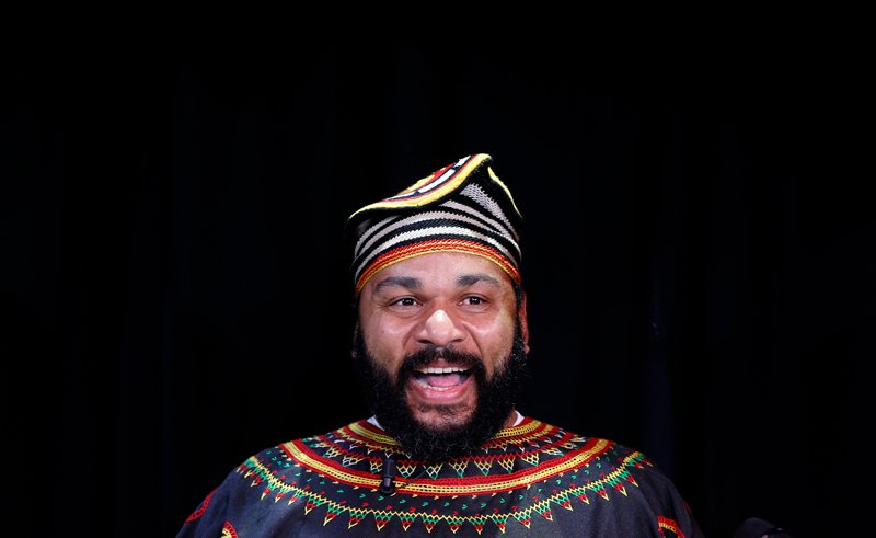 "French comedian Dieudonne M'Bala M'Bala, also known as just ""Dieudonne"", attends a news conference at the ""Theatre de la Main d'or"" in Paris on January 11, 2014. Photo courtesy of REUTERS/Gonzalo Fuentes *Editors: This photo can only be used with RNS-FRENCH-COMEDIAN, originally transmitted on Jan. 30, 2015"