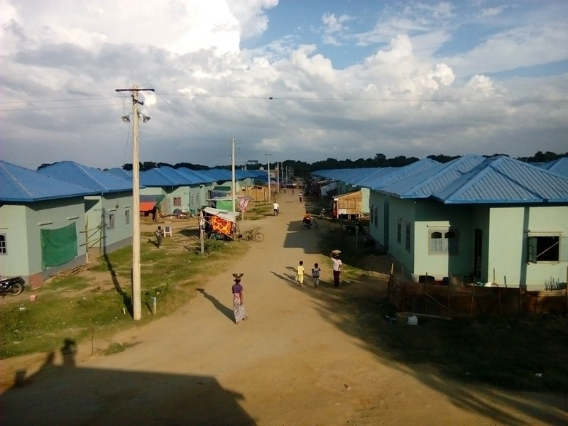 A view of Chanaye Tharyar Quarter in Meikthila. Buddhists and Muslims in Meiktila, Myanmar, were separated along faith lines after interreligious violence destroyed roughly 800 homes in 2013. Now residents have petitioned the government to allow them to reintegrate as before. Photo courtesy of Aung Htay