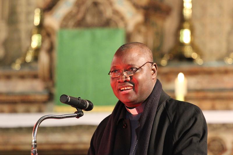 Nigerian Roman Catholic Archbishop Ignatius Kaigama speaks in Manchester, England on Nov. 6, 2014. Photo by Simon Caldwell, courtesy of Catholic News Service