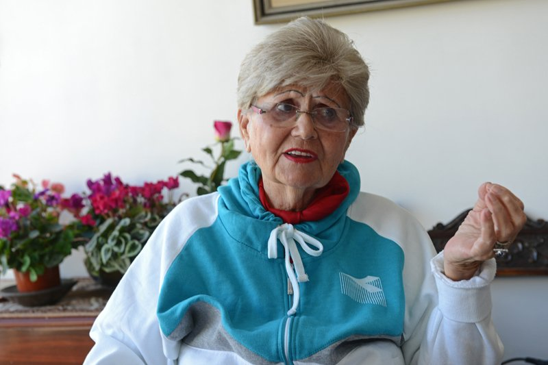 Auschwitz survivor Renee Ganz, 86, from Oradea, Romania, discusses her time at the Nazi concentration camp on January 21, 2015, the 70th anniversary of the allied forces liberation in 1945, from her apartment in Tel Aviv, Israel. Photo by Debbie Hill, courtesy of USA Today