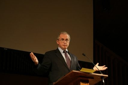 D.A. Carson at a Gospel Coalition conference in 2007   Photo by James Gordon via Flickr (http://bit.ly/18R84Mk)