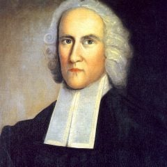 "The release of Edwards' work is more than a historical contribution. It comes at a moment of renewed interest in the preacher, especially among conservative evangelicals and ""New Calvinists."" - Picture of Jonathan Edwards is public domain (via Wikimedia Commons)"