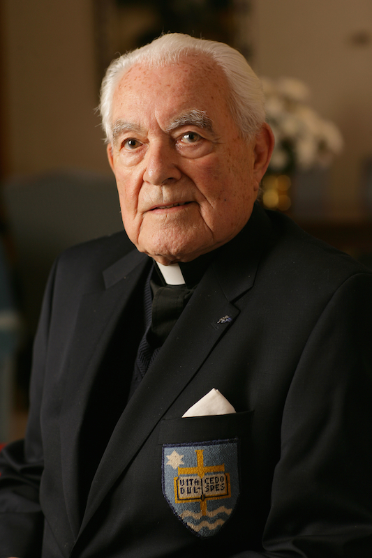 The Rev. Theodore Hesburgh was president of the University of Notre Dame from 1952 to 1987. Photo courtesy of University of Notre Dame.