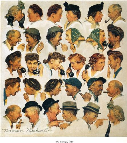 The Gossips, by Norman Rockwell