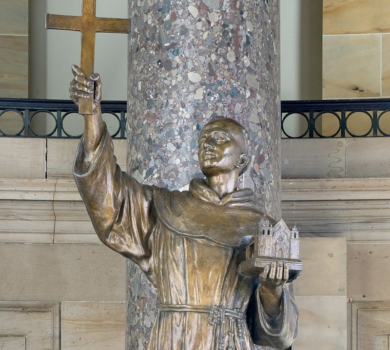 This statue of Father Junipero Serra was given to the National Statuary Hall Collection by California in 1931.
