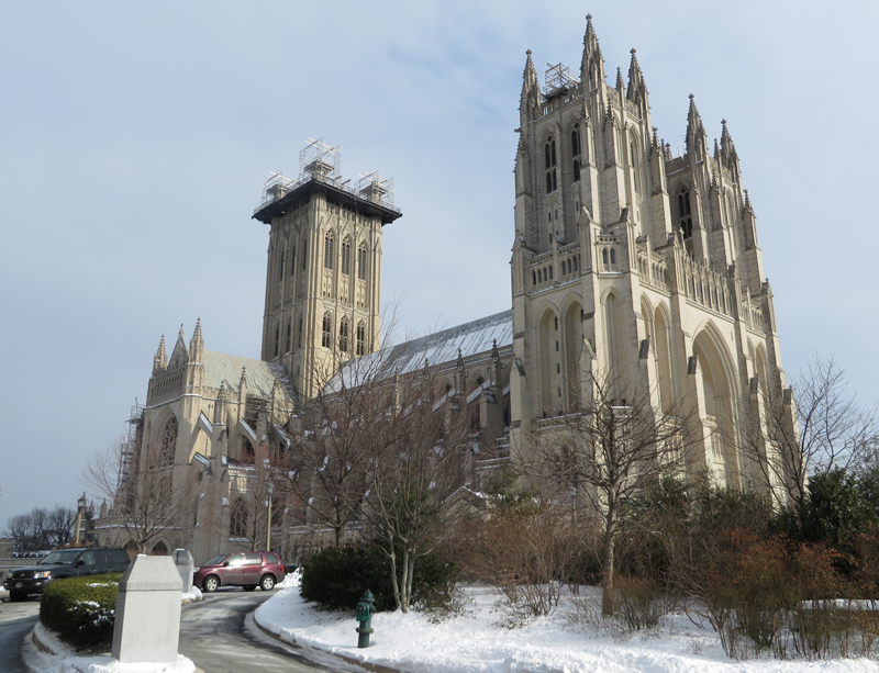 The Washington National Cathedral is finishing its first $10 million phase to repair damage sustained in a 2011 earthquake. The second phase, expected to cost $22 million and take more than twice as much time, has yet to begin. Religion News Service photo by Lauren Markoe