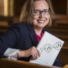 Sociologist Elaine Howard Eckland's research finds myth-busting levels of accord between scientists and evangelicals. Photo by Jeff Fitlow courtesy of Rice University.