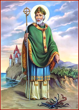 Saint Patrick of Ireland.