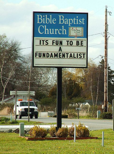 Fun to be a fundamentalist! | Photo by Curtis Perry via Flickr (http://bit.ly/1M5CrQJ)