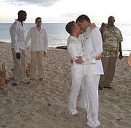 Same-sex wedding ceremony in June, 2006
