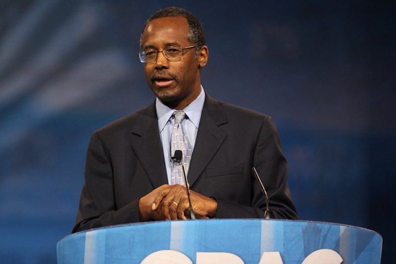 Ben Carson speaking at the 2013 Conservative Political Action Conference (CPAC) in National Harbor, Maryland.