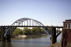 The Edumund Pettus Bridge in Selma, Alabama