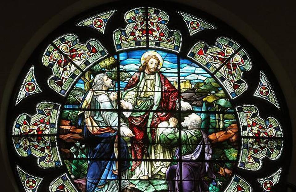 """This stained glass window, """"The Call Of Saint Andrew,"""" is at Saint Andrew's Episcopal Church in downtown Fort Worth. Photo courtesy of Paul Moseley Star-Telegram *Editors: This photo is not available for republication."""