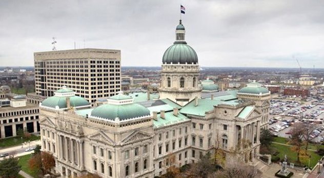 A core argument among the law's defenders is that there is already a federal RFRA and 19 other states have a law exactly like the Indiana's. But similar is not same. - Photo: The Indiana state capital building.