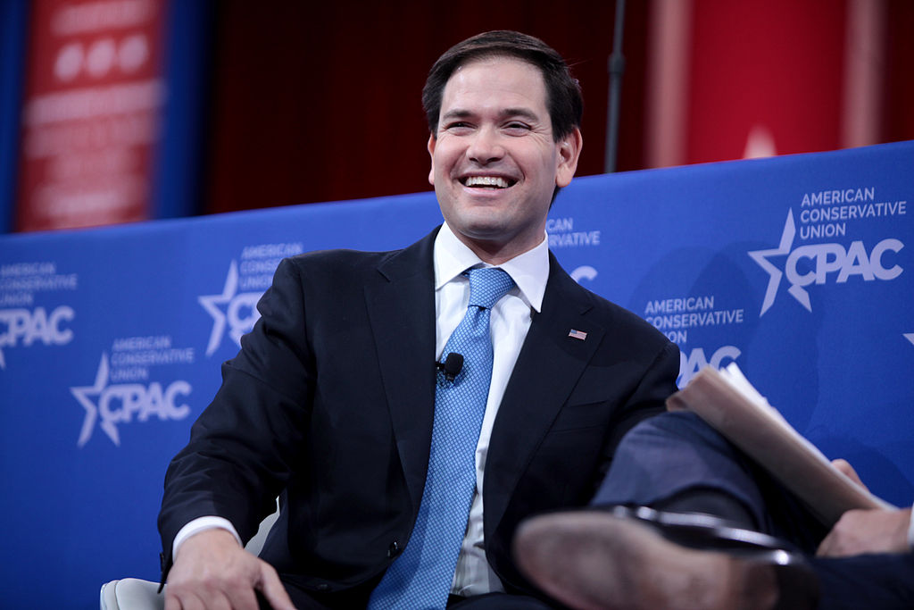 Marco Rubio speaking at CPAC 2015 in Washington, DC.