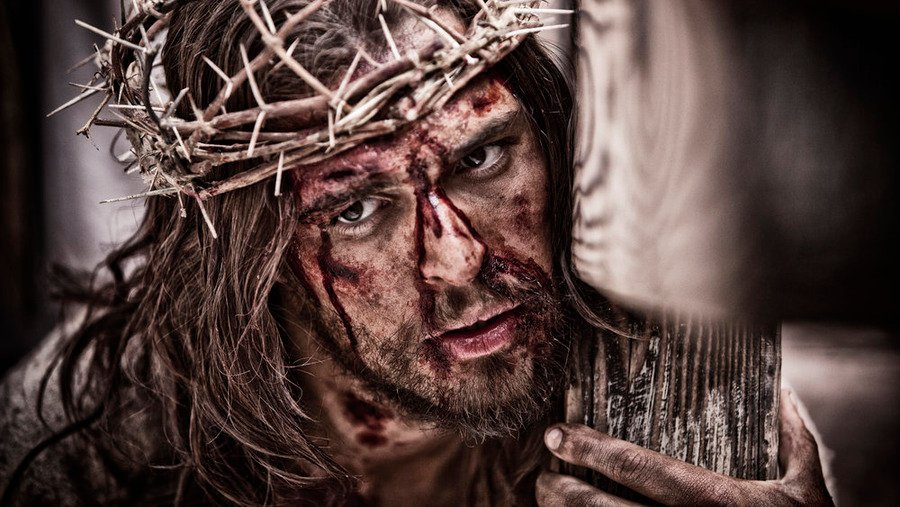 """Diogo Morgado as Jesus in """"A.D. The Bible."""" Photo by Casey Crafford/LightWorkers Media LLC/Hearst Productions/Telemundo, courtesy of NBC Universal"""