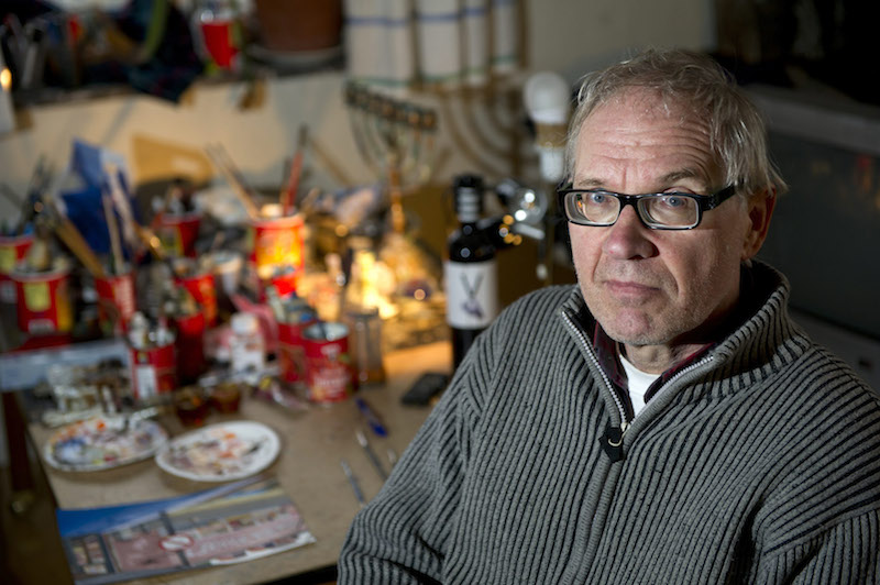 Controversial Swedish artist Lars Vilks is seen in a 2012 photo. Vilks stirred controversy in 2007 with published drawings depicting the Prophet Mohammad as a dog which sparked threats from Islamist militant groups. Photo courtesy of Reuters/Bjorn Lindgren/TT News Agency