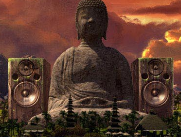 Buddha Bar flanked by speakers on Buddha-Bar's international website.