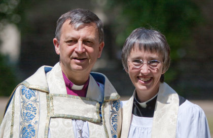 Frank and Alison White, the first family team of bishops in the Church of England. Photo courtesy of the Diocese of York