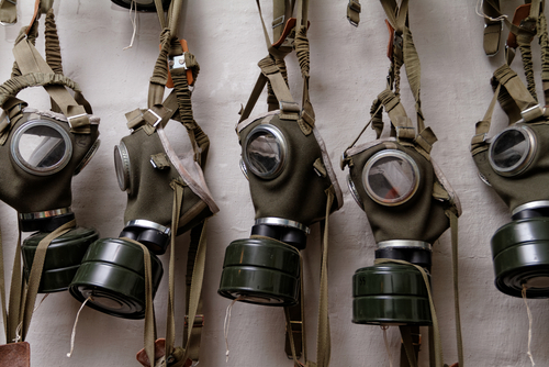 Gas masks of World War II.