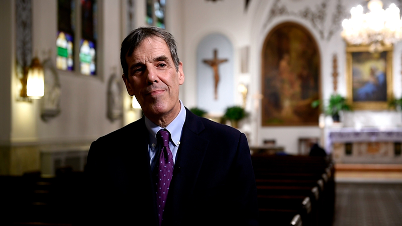 Robert J. Corti talks about the closing Our Lady of Peace Church on East 62nd Street in New York City. Because of declining attendance, rising costs and a growing shortage of priests, the Roman Catholic archdiocese of New York has announced plans to close dozens of parish churches, many of them old and beloved. Photo by Robert Deutsch, USA Today