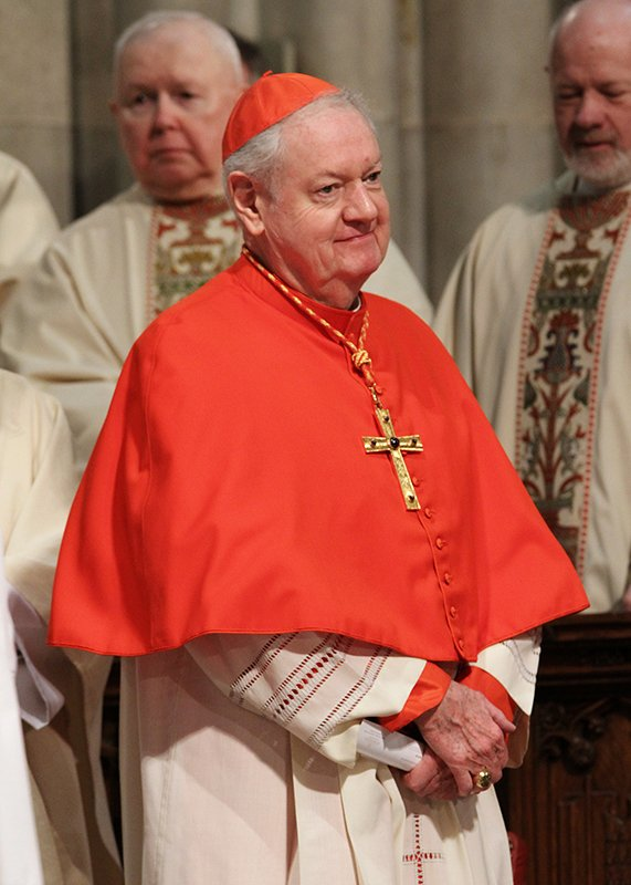 Cardinal Edward M. Egan, retired archbishop of New York, is seen during the 2014 St. Patrick's Day Mass at St. Patrick's Cathedral in New York City. Religion News Service photo by Gregory A. Shemitz