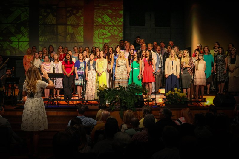 The GracePointe Church choir performs during Easter service in 2014. Photo courtesy of GracePointe Church