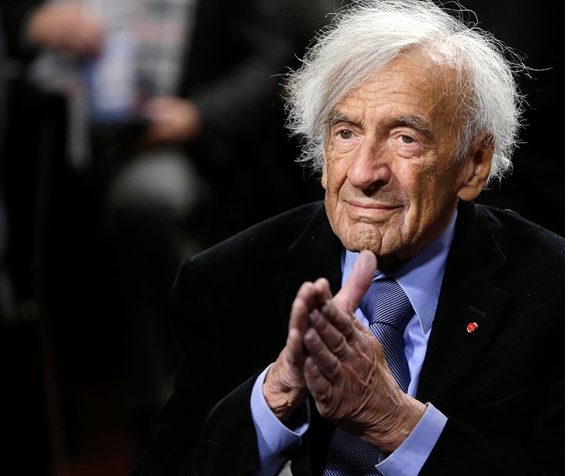 "Nobel Peace Laureate Elie Wiesel is seen before participating in a roundtable discussion on ""The Meaning of Never Again: Guarding Against a Nuclear Iran"" on Capitol Hill in Washington on March 2, 2015. Photo courtesy of REUTERS/Gary Cameron  *Editors: This photo may only be republished with RNS-SALKIN-COLUMN, originally transmitted on March 4, 2015, or RNS-BLECH-COLUMN, originally transmitted on May 21, 2015."
