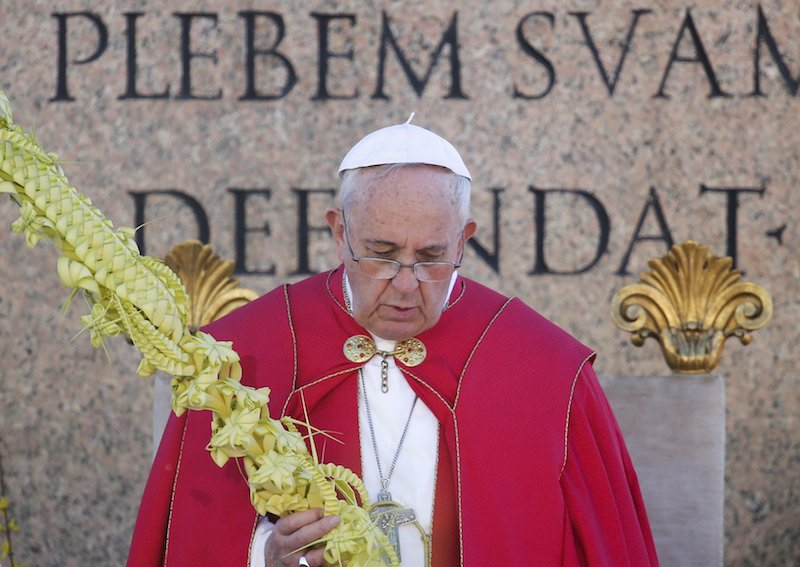 Pope Francis leads the Palm Sunday mass at Saint Peter's Square at the Vatican March 29, 2015. Photo by Max Rossi, courtesy of Reuters.