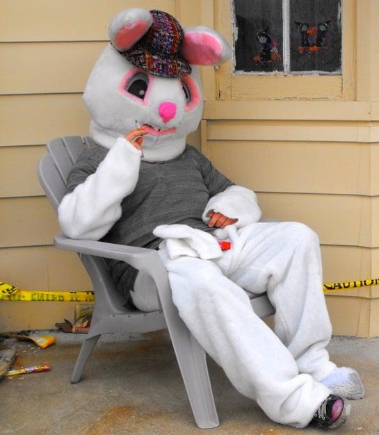 Easter smoke break