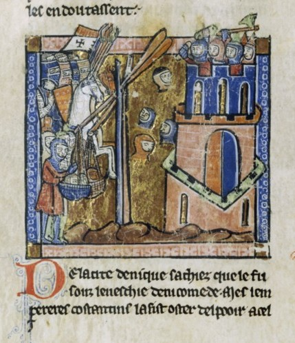 Crusaders bombard Nicaea with heads in 1097.