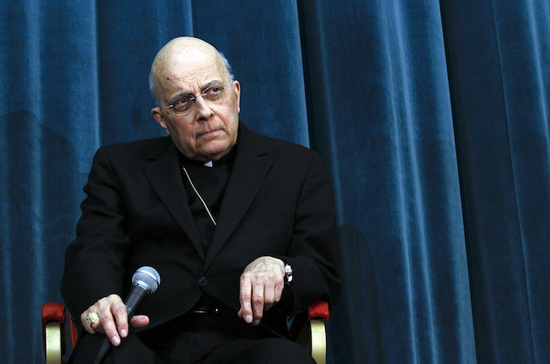 Cardinal Francis George, archbishop of Chicago, at news conference at the North American College in Rome March 4, 2013.
