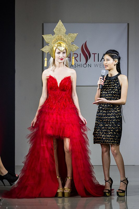 A collection of Julie Chew is showcased during 2015 Christian Fashion Week. Photo courtesy of Fotocafe Photography