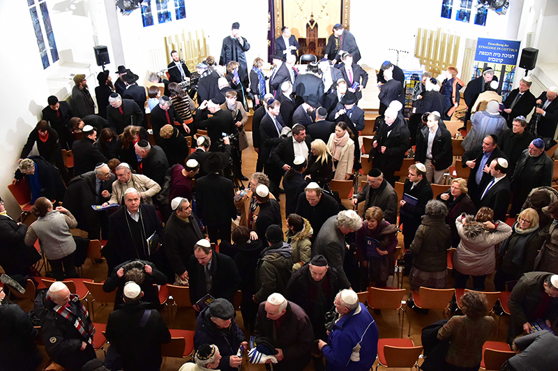 Some one thousand people turned out for the inauguration ceremony in Cottbus, Germany. Members of the Jewish community say the city has welcomed them with open arms. Still, fears remain over the presence of right-wing groups in the region. Photo by Michael Helbig