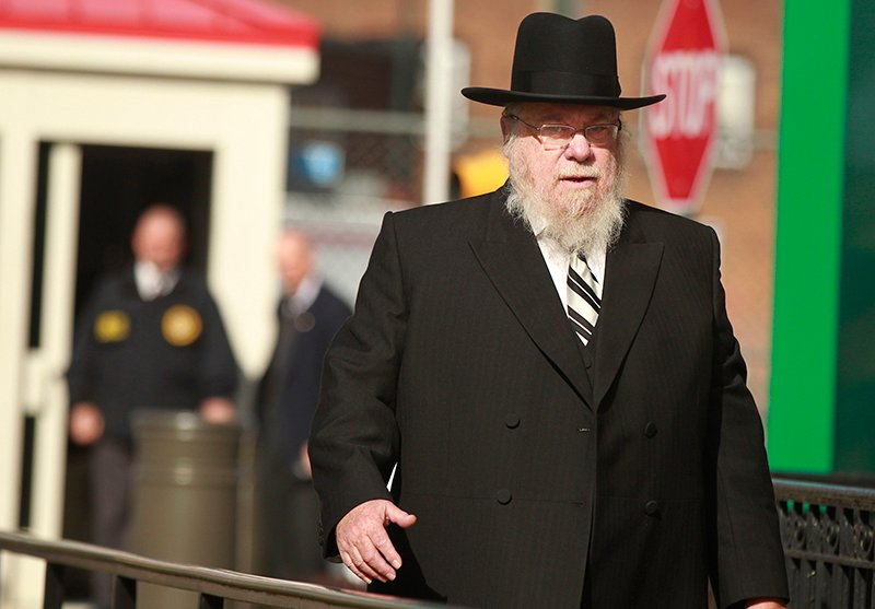 Lakewood Rabbi Mendel Epstein arrives at the Federal Courthouse as closing arguments in the case get underway. Photo by Robert Sciarrino | NJ Advance Media for NJ.com