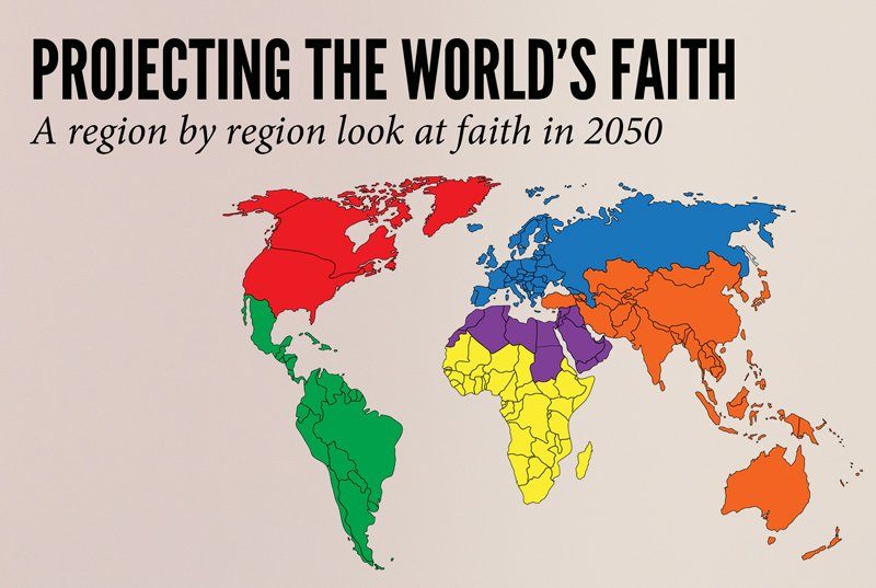The future map of religions reveals a world of change for Christians ...