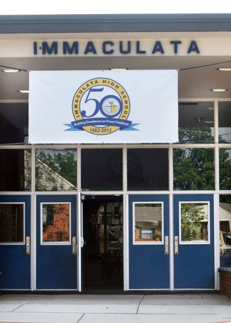 File photo of Immaculata High School, which has ordered a teacher to permanently disable her Facebook account after she posted an anti-gay rant. Photo by Kathy Johnson, courtesy of USA Today