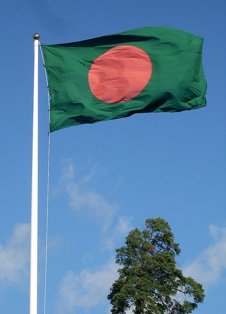 Bangladeshi flag, courtesy Fredrik Rubensson/Flickr.