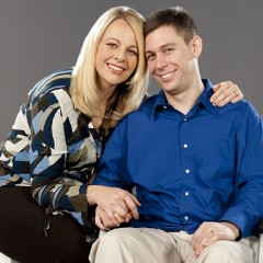 Martin eventually graduated from college and is pictured here with his wife, Joanna. - Image courtesy of Martin Pistorius