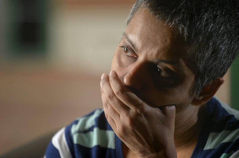 Rafida Ahmed, who is recovering from injuries including the loss of her thumb suffered during a hacking attack by jihadi assailants, speaks during an interview with Reuters near Washington April 23, 2015. Ahmed's husband, Avijit Roy, a Bangladesh-born U.S. citizen, was killed in the February attack in the Bangladesh capital of Dhaka. RNS photo by Reuters.