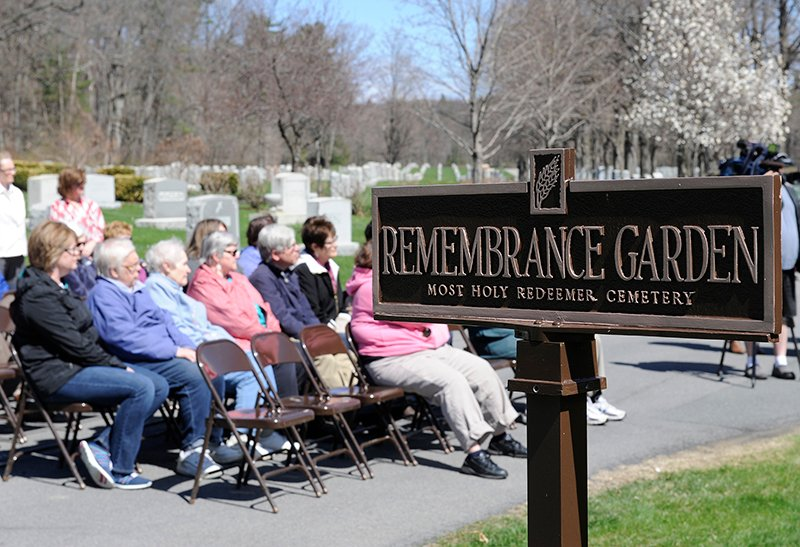 People take part during a memorial service for mothers who lost their children before birth at the Most Holy Redeemer cemetery in Niskayuna, N.Y., on Tuesday, April 28, 2015. Photo by Hans Pennink / Special to Religion News Service
