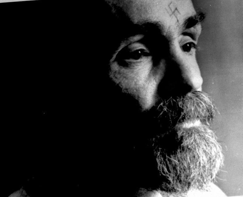 Charles Manson talks during an interview on August 25, 1989. Photo courtesy of Reuters *Editors: This photo may only be republished with RNS-DEATHROW-CHAPLAIN, originally transmitted on May 20, 2015.