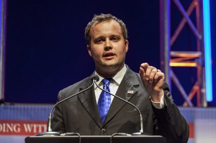 Josh Duggar, formerly executive director of the Family Research Council Action, speaks at the Family Leadership Summit in Ames, Iowa August 9, 2014. Photo courtesy REUTERS/Brian Frank. *Editors: This photo can only be used with RNS-DUGGAR-MOLEST, transmitted May 22, 2015.