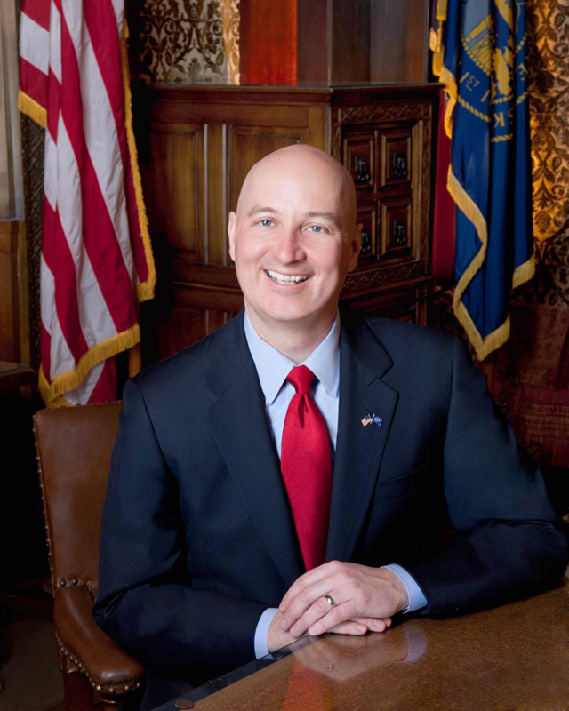 Gov. Pete Ricketts, official photo courtesy of the office of Gov. Pete Ricketts.