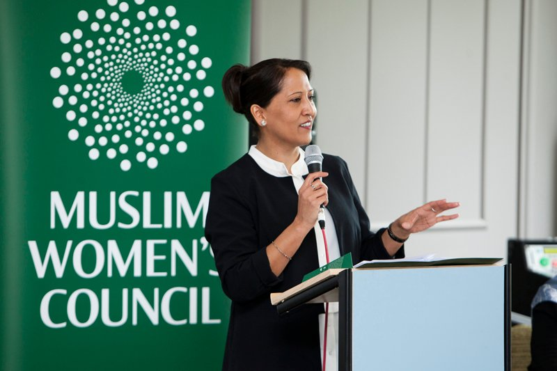 Bana Gora, chief executive of the Bradford-based Muslim Woman's Council, speaks during the Muslim Women's Council Daughters of Eve 2015 Conference. Photo courtesy of Bana Gora