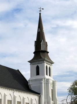 The steeple of Emanuel African Methodist Church, Charleston, SC. Photo by Spencer Means via Flickr.