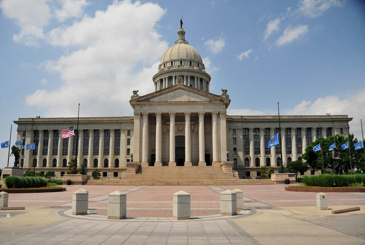 The Oklahoma state capitol building.