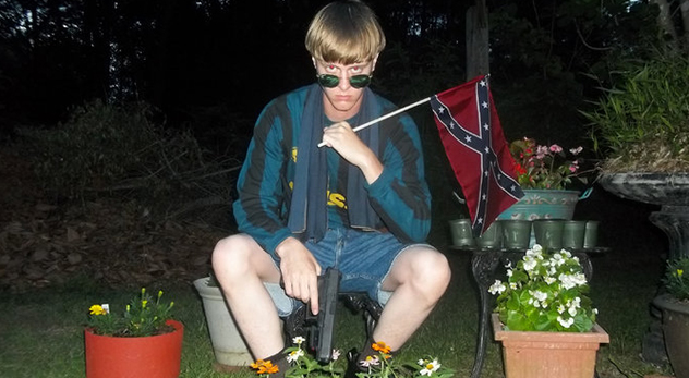 A photo of Dylan Roof posted to a white supremacist website offers glimpse into the suspected killer's personality. (See: