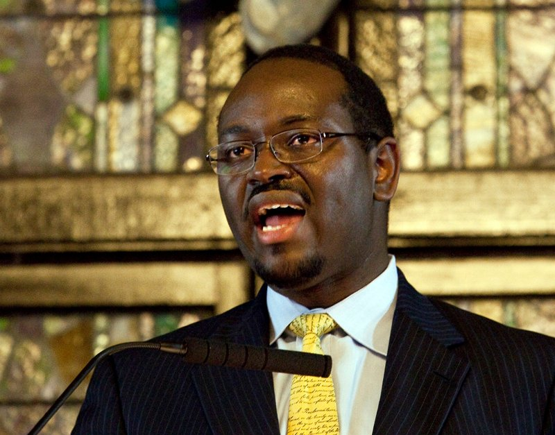 Senior Pastor, Rev. Clementa Pinckney, speaks to those gathered during the Watch Night service at Emanuel African Methodist Episcopal Church in Charleston, South Carolina on December 31, 2012.  Photo courtesy of REUTERS/Randall Hill  *Editors: This photo may only be republished with RNS-SLAIN-PASTOR, origianlly transmitted on June 18, 2015.