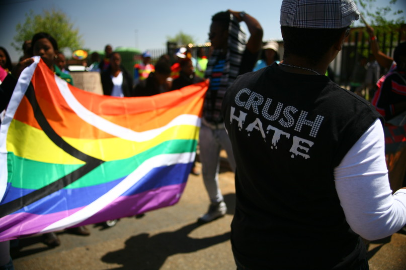 A march in KwaThema township east of Johannesburg on September 17, 2011. Photo by Melanie Hamman Doucakis courtesy of Laura Fletcher.